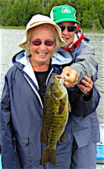Audrey with a Great Big Trophy Smallmouth Bass